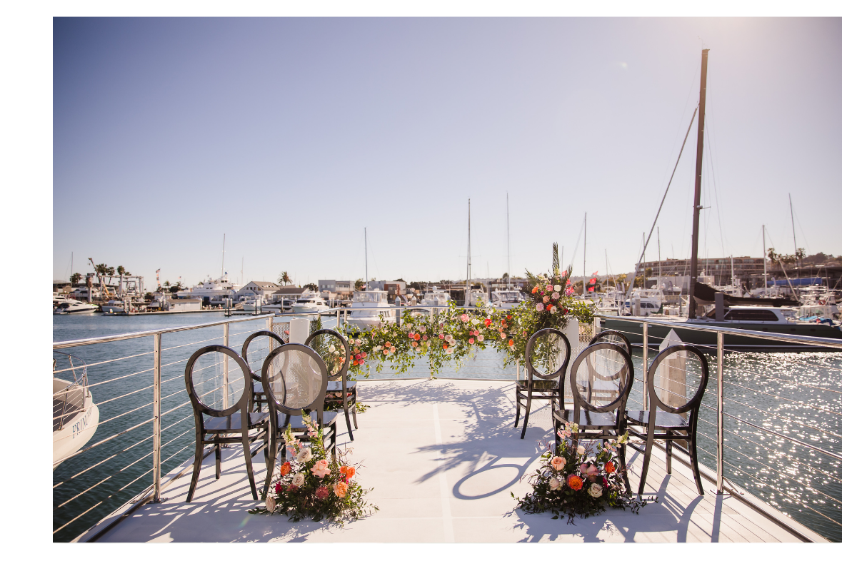 Floral Design on Boat in Newport Beach