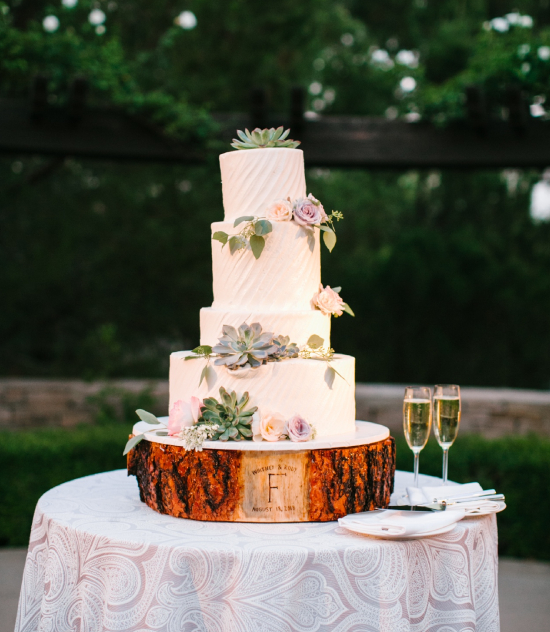 Wedding Cake with Champagne